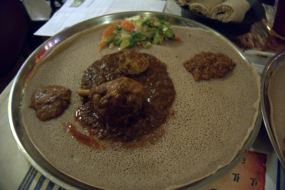 Ethiopian Food in Phoenix Abyssinia Restaurant Photo